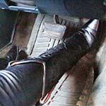 Vassanta Floods the Monte in Boots & Leather, Revs It Hard