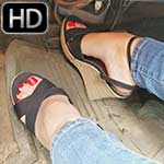 Dirty Diana Brake Failure in the Monte in Wedge Sandals