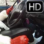 Vivian Ireene Pierce Red Gloves & White Fur Bug Struggle