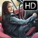 Vivian Cranking the Volvo in All Leather – #1057 Leftover Scenes
