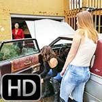 Britney, Jane & Sasha Crank the Cadillac in Boots, 2 of 2