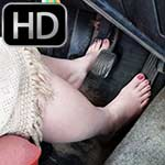 Scarlet Stuck in the Volvo Reversing Barefoot, 3 of 4