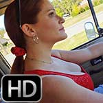 Vivian Ireene Pierce Drives the 71 VW Bus in Red Ballet Flats