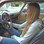 Anna Komis Cranking the Camaro I Sabotaged, 2 of 4