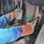 Brooke & Jane Studded Heels Swapping Cars