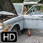 Brooke Cranking the Volvo (Custom 1242 Attempt)