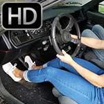 Britney & Sasha Take Turns Cranking & Revving the Renault