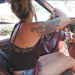 Jane Running Errands in the Loaner Jeep in Red Flats, 1 of 3