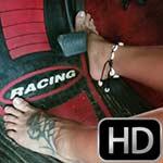 Jane Domino Anklet & Barefoot Cranking Mom's Mustang