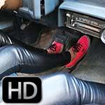 Cherry Morgan & Dakota Charms Leather Pants & Keds, 1 of 2