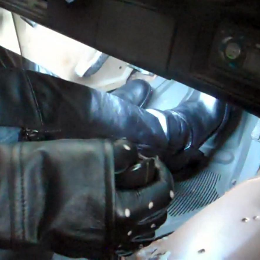 Reese Starts & Drives the '77 Z28 in Black Leather Boots, Gloves & Jacket