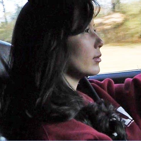 Hana Cruising in the Coronet in Knee High Socks & Justin Cowgirl Boots