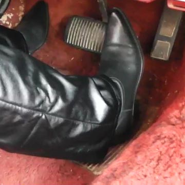 Paige Erin Turner Store Run in the Jeep in Leather Pants & Boots