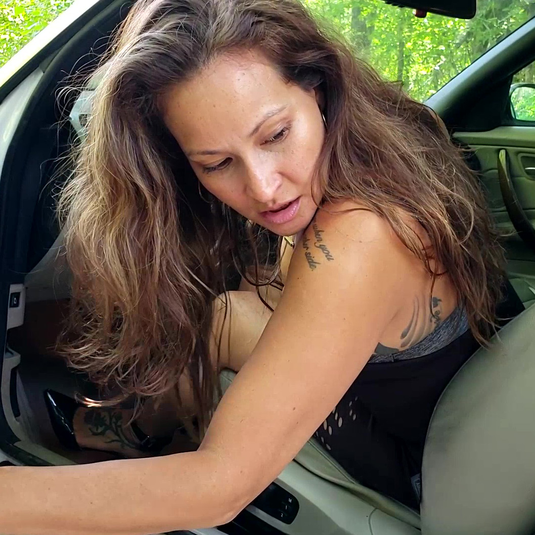 PTP1324 – Jane Domino Encounters Cocky Security Guards & Tries to Run Them Over but Tears Her Car Up Instead – Custom 1324