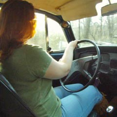 Scarlet Drives the Bug in Moccasin Boots Then Socks, 2 of 2