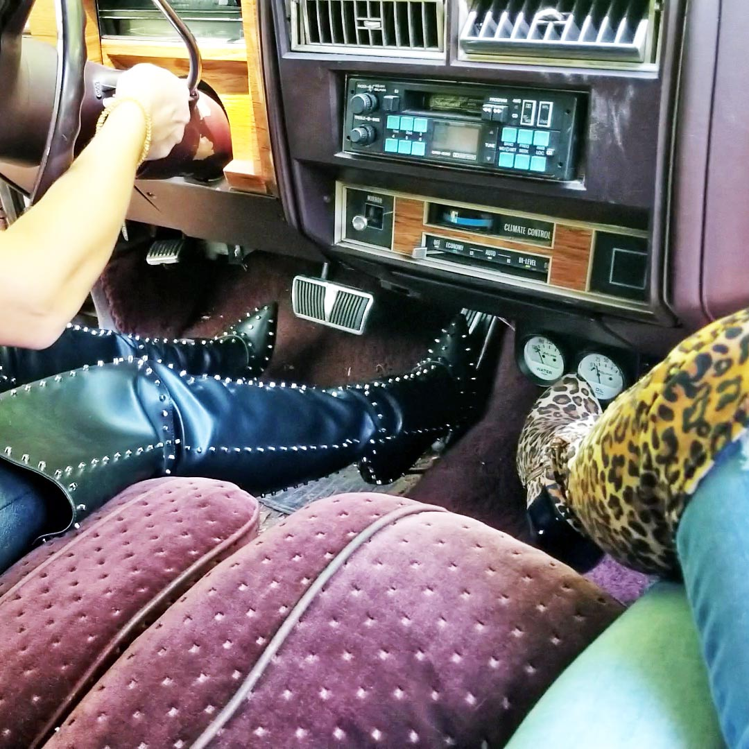 Jane Domino & Jewels Can't Get the Cadillac Cranked in Tall Boots