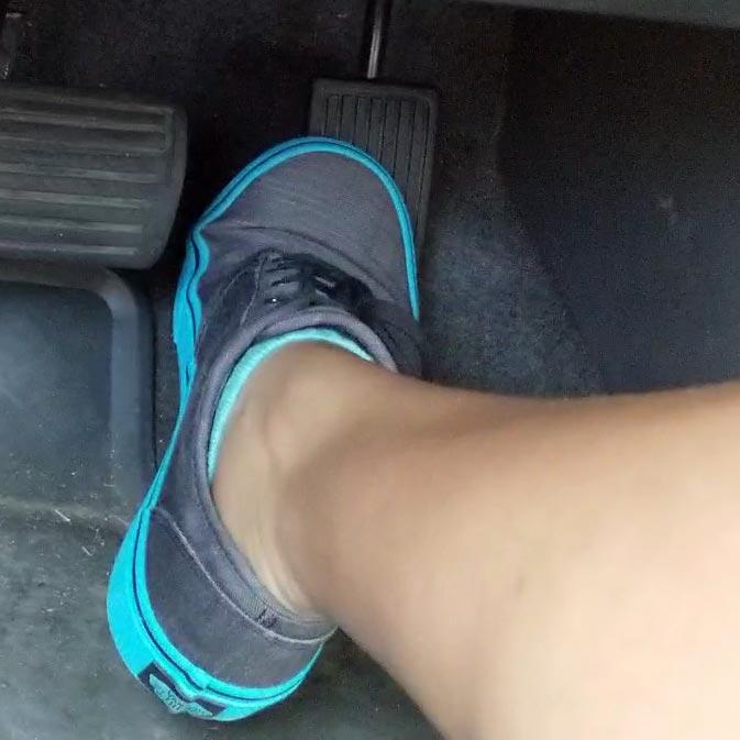 Jane Domino Flooring Truck in Blue & Gray Keds