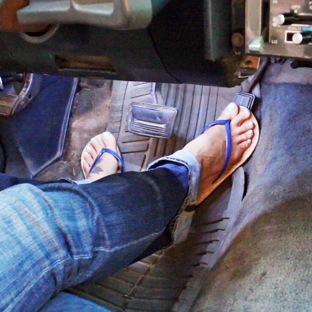 Jane Domino Blue Flip Flops Car Swaparoo