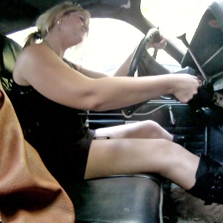 Rockell Starbux Pedal Pumping Fun in Black Riding Boots, 1 of 2