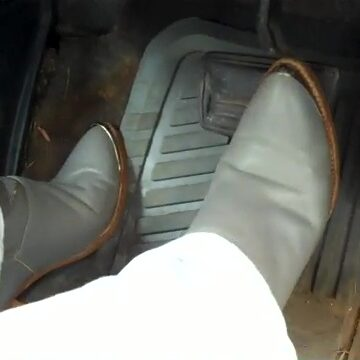 Hana Helluva Day Starting Cars in Gray Boots, 3 of 3
