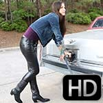 Sylvia Can't Start the Cadillac in Leather & Boots, 2 of 3