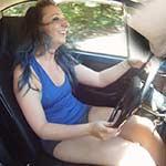 Cherry & Dakota Hot-N-Sweaty Flip Flop Drive in the Bug, 2 of 2