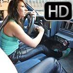 Cherry Morgan & Dakota Charms Leather Pants & Keds, 2 of 2
